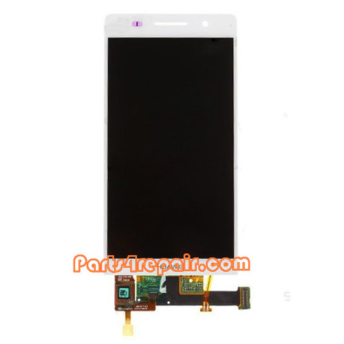 Complete Screen Assembly for Huawei Ascend P6 -White from www.parts4repair.com