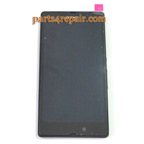 Complete Screen Assembly with Bezel for Sony Xperia Z L36H (Used) -Black
