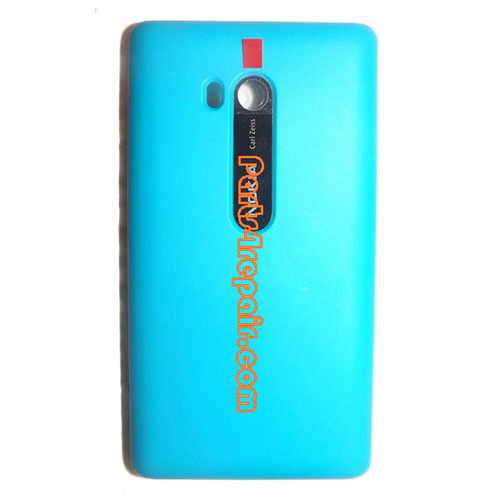Back Cover with Wireless Charging Coil for Nokia Lumia 810 (T-Mobile) -Blue