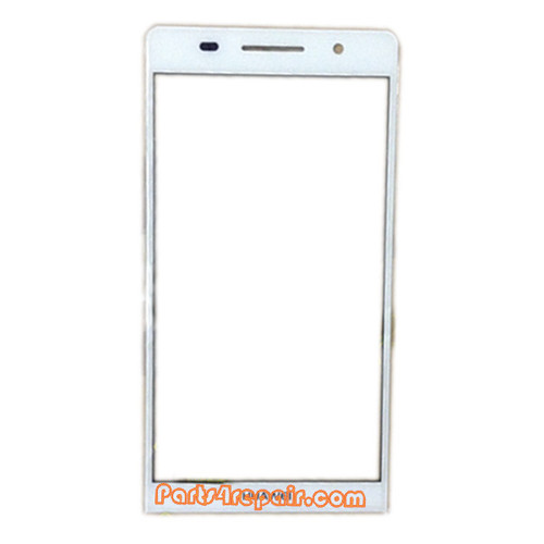 Front Gorilla Glass for Huawei Ascend P6 -White from www.parts4repair.com