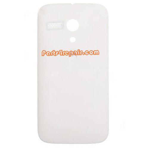 Back Cover for Motorola Moto G XT1032 -White from www.parts4repair.com
