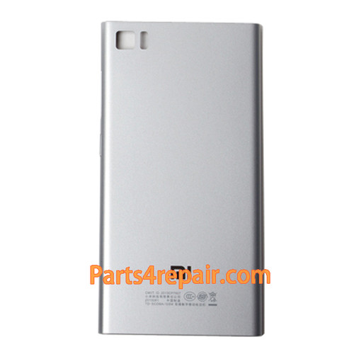 Back Cover for Xiaomi M3 -Silver from www.parts4repair.com