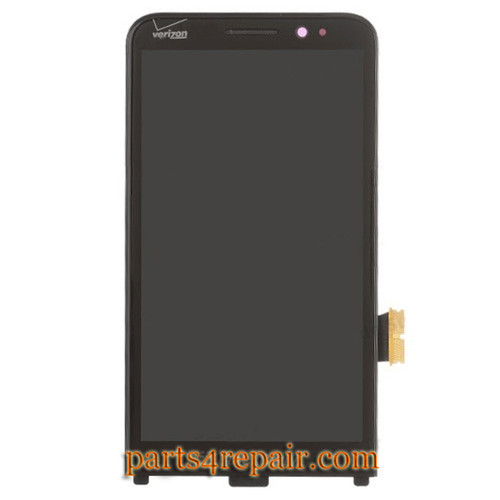 Complete Screen Assembly with Front Bezel for BlackBerry Z30 -Black from www.parts4repair.com