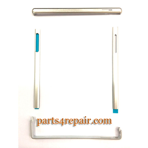 Side Rails for Sony Xperia Z Ultra XL39H -White from www.parts4repair.com