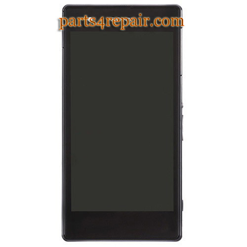 Complete Screen Assembly with Bezel for Sony Xperia Z1S L39T (T-Mobile Version) -Black from www.parts4repair.com