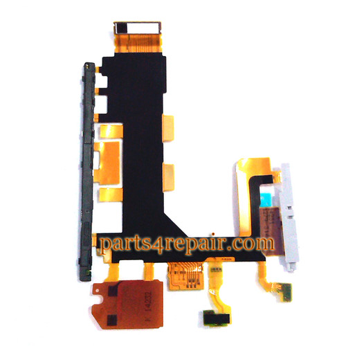 Side Key Flex Cable for Sony Xperia Z2 from www.parts4repair.com