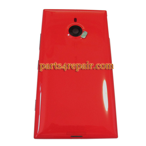 Back Housing Assembly Cover OEM with Wireless Charging Coil for Nokia Lumia 1520 -Red
