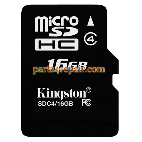 Kingston 16GB Micro SD Class 4 Memory Card from www.parts4repair.com