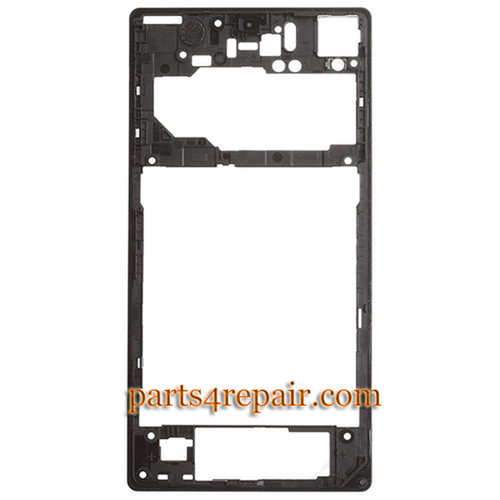 We can offer Rear Middle Cover for Sony Xperia Z1 L39H -Black