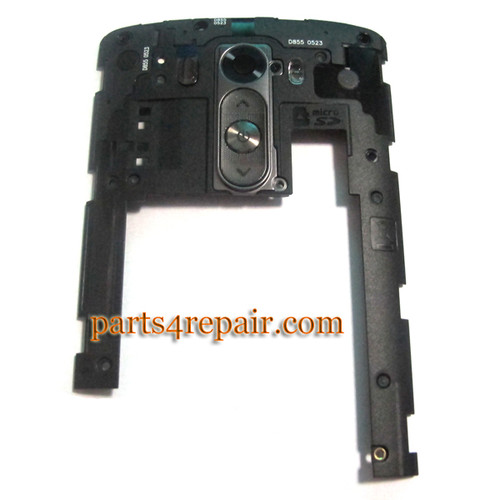 Rear Middle Cover for LG G3 D855 D851 -Black