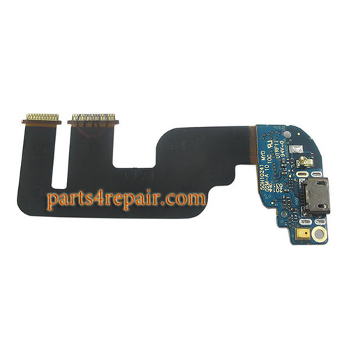 Dock Charging PCB Board for HTC One mini 2 from www.parts4repair.com