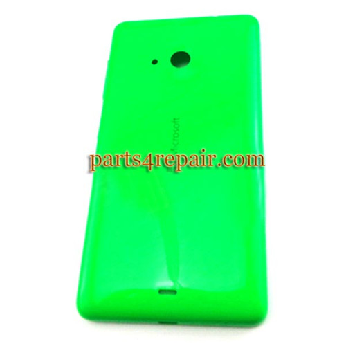Back Cover with Side Keys for Microsoft Lumia 535 -Green(Smooth and Bright)