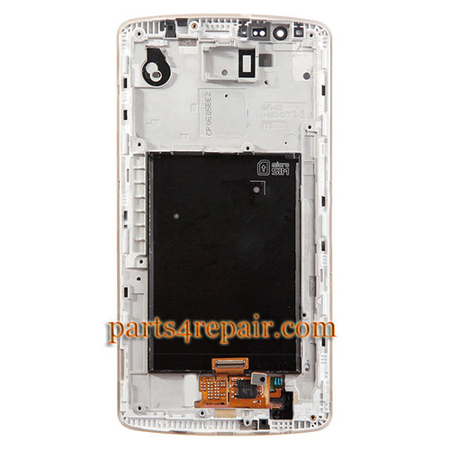 Complete Screen Assembly with Bezel for LG G3 D850 (for at&t) -Gold