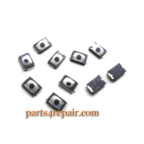10pcs Built-in Button Contact for Samsung Galaxy Note 4