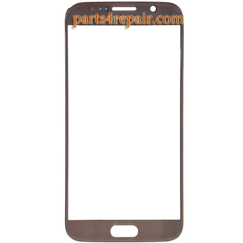 Front Glass for Samsung Galaxy S6 All Versions -Gold