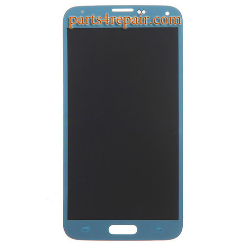 Complete Screen Assembly for Samsung Galaxy S5 -Blue