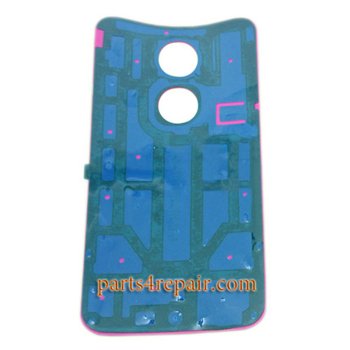 Back Cover with Adhesive for Motorola Moto X2 -Red
