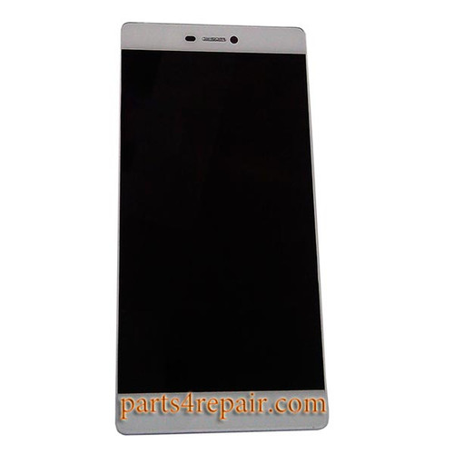 Complete Screen Assembly with Bezel for Huawei P8 -White