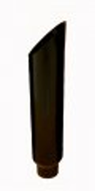 "7"" Black Stack Mitre Cut Black Powder Coated Stainless Stack 5"" OD Base"