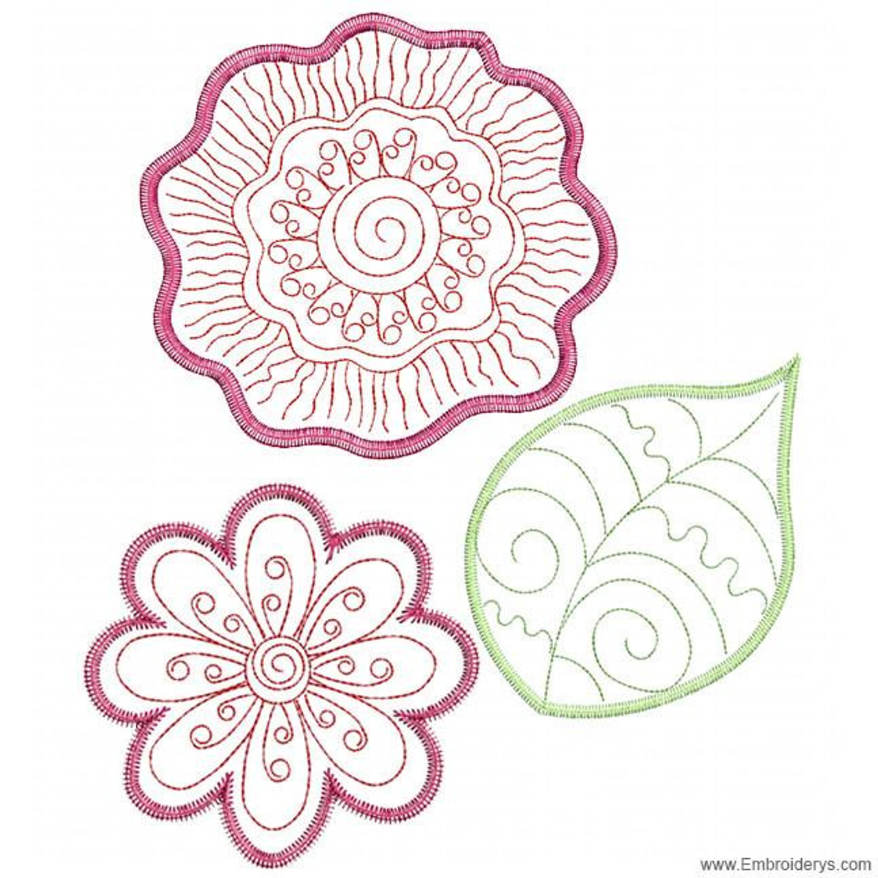 3d Whimsical Bloom In The Hoop Machine Embroidery Designs