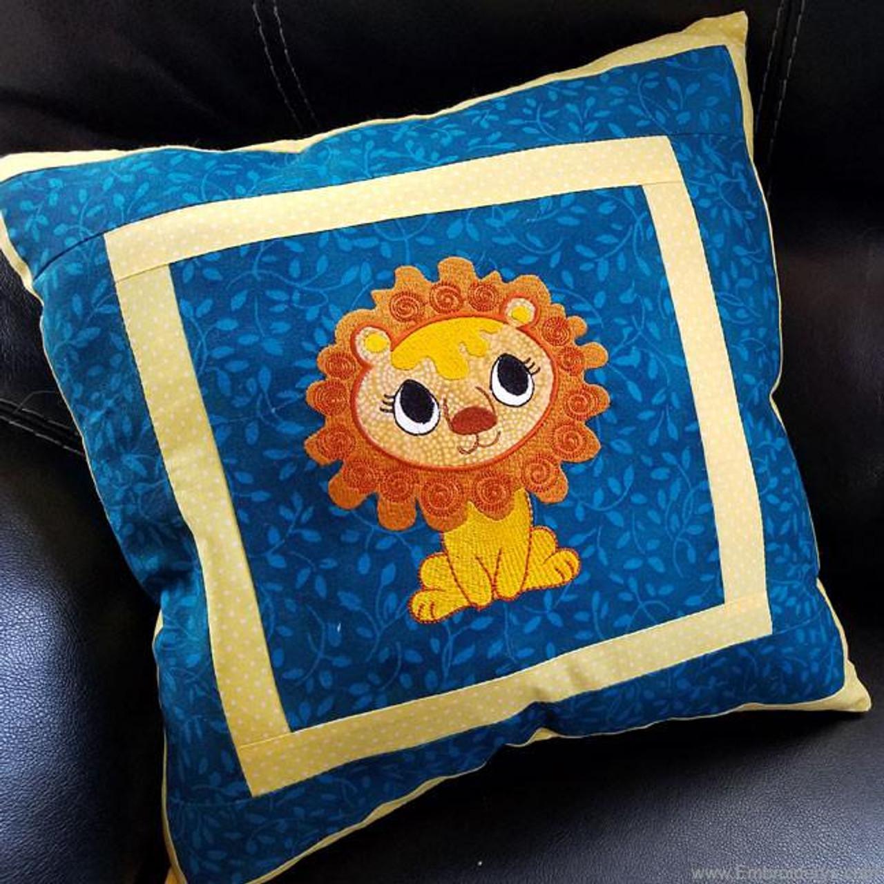 Baby Lion Applique - Machine Embroidery Design - Tattered Stitch ...