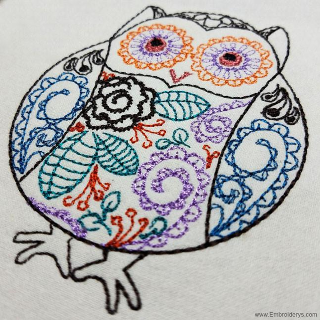 Whimsical Owl Machine Embroidery Designs Tattered Stitch