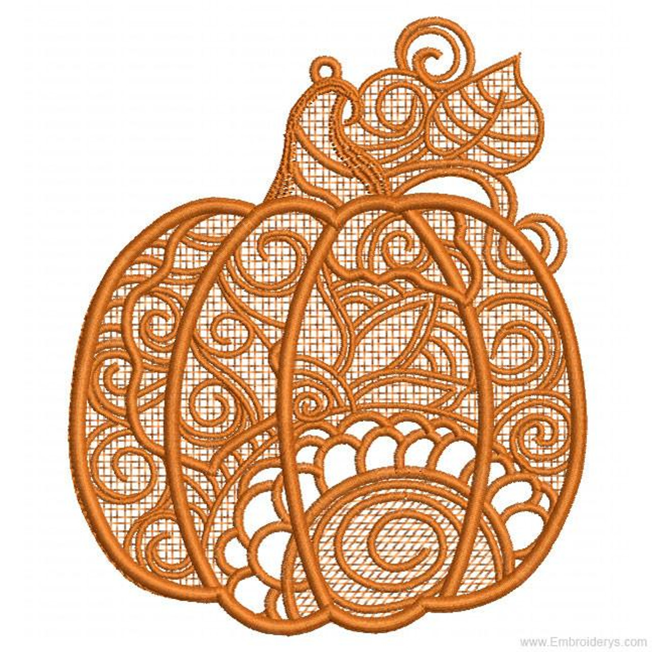 Pumpkin Free Standing Lace Machine Embroidery Designs Tattered