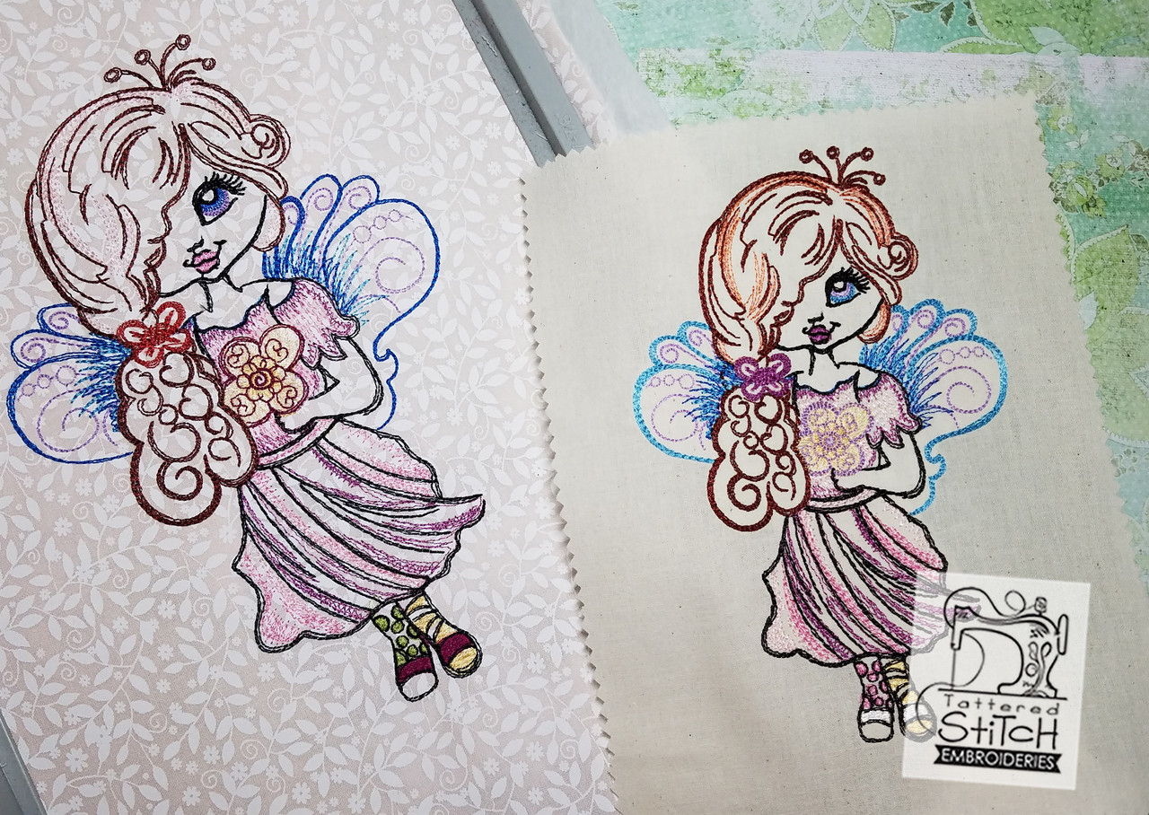 Garden Fairy - Machine Embroidery Design. 5x7 & 6x11 hoop. Instant ...