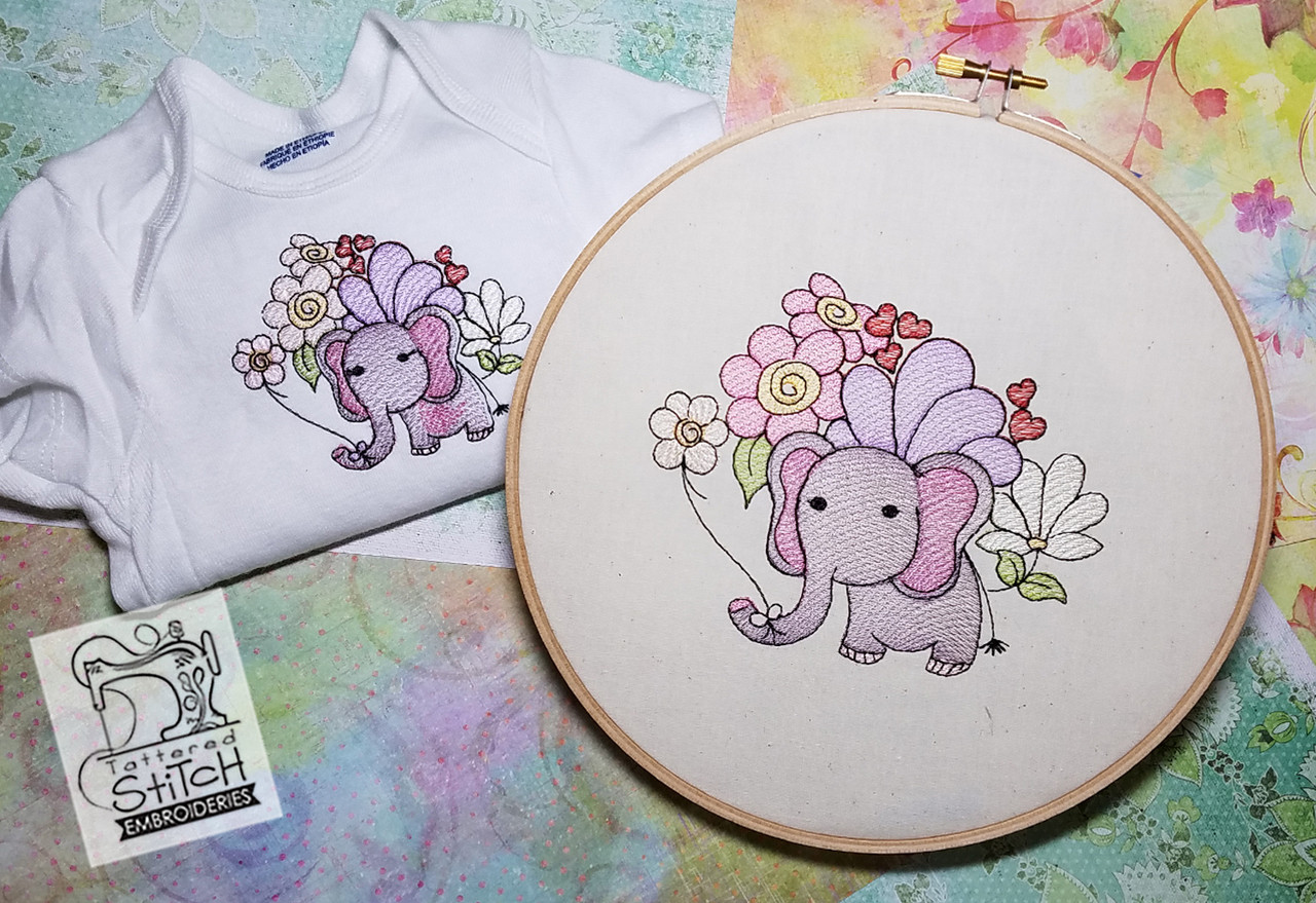 BabyEllie- Machine Embroidery Design. 4x4 & 5x7\