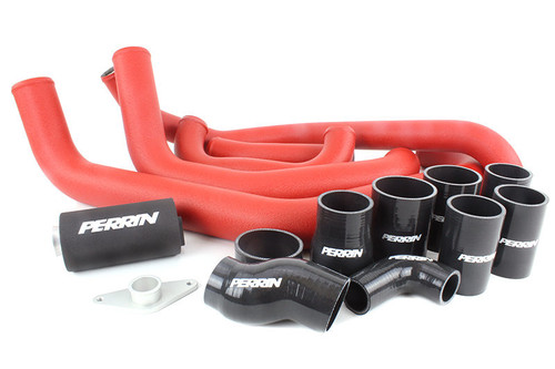 Perrin Boost Tube Kit (Red) For 2008-2014 Subaru STI (PSP-ITR-430-2RD/BK)
