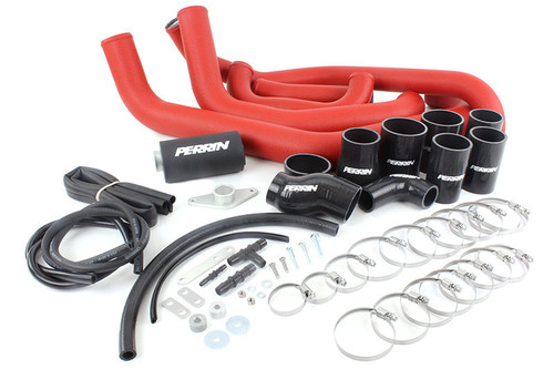 Perrin Boost Tube Kit (Red) For 2008-2014 Subaru STI