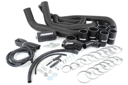 Perrin Boost Tube Kit (Black) For 2008-2014 Subaru STI
