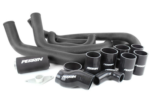 Perrin Boost Tube Kit (Black) For 2008-2014 Subaru STI (PSP-ITR-430-2BK/BK)