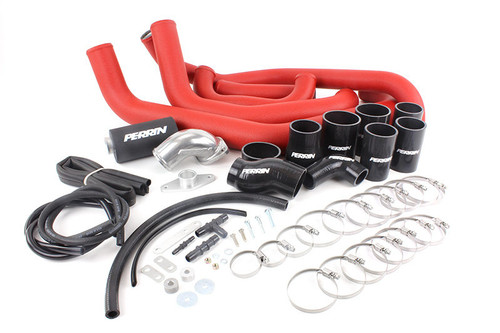 Perrin Boost Tube Kit (Red) For 2008-2014 Subaru WRX