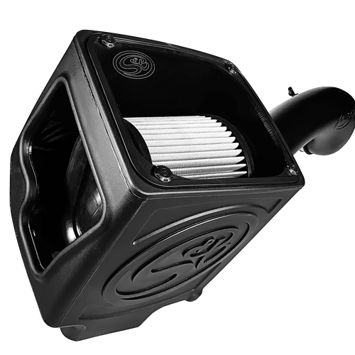 S&B 75-5110D Cold Air Intake Kit for 2016-2018 Silverado/Sierra 2500, 3500 6.0L (Dry Disposable Filter)