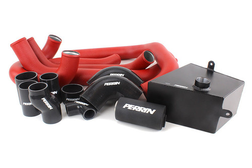 Perrin Boost Tube Kit (Red) For 2015-2019 Subaru STI (PSP-ITR-438-2RD/BK)