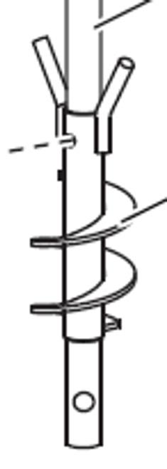 "29995 - ""FISHER - WESTERN - BLIZZARD AUGER WELDMENT 1.75"" PITCH"