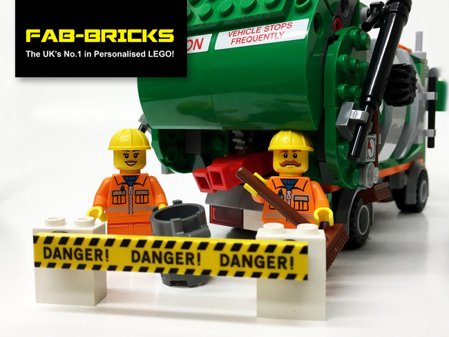Custom Printed LEGO Danger Signs