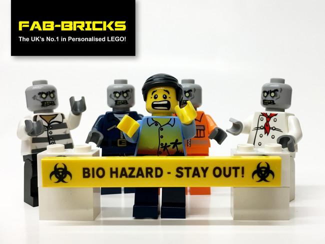 Custom Printed LEGO Bio Hazard/Zombie Signs