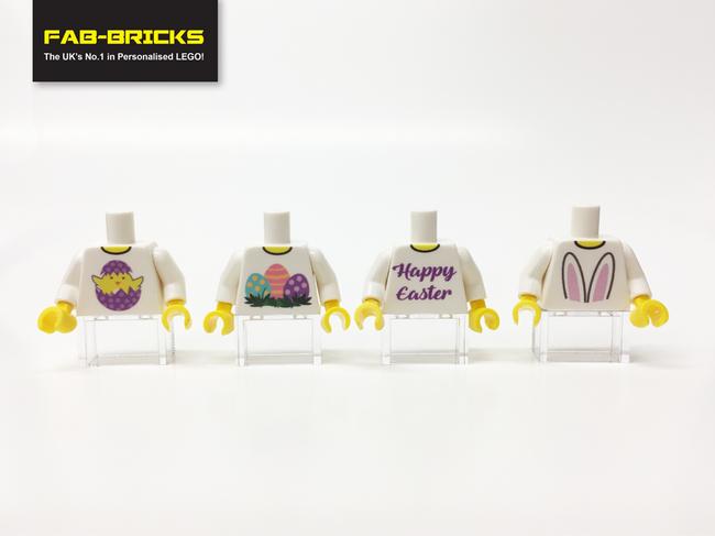 4 Easter Custom Printed Torsos *FREE SHIPPING!*