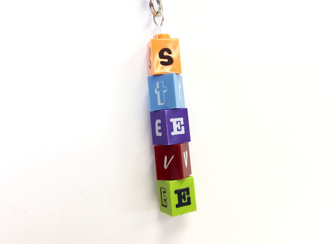 Personalised LEGO 1x1 Brick Keyring! Choose your colours!