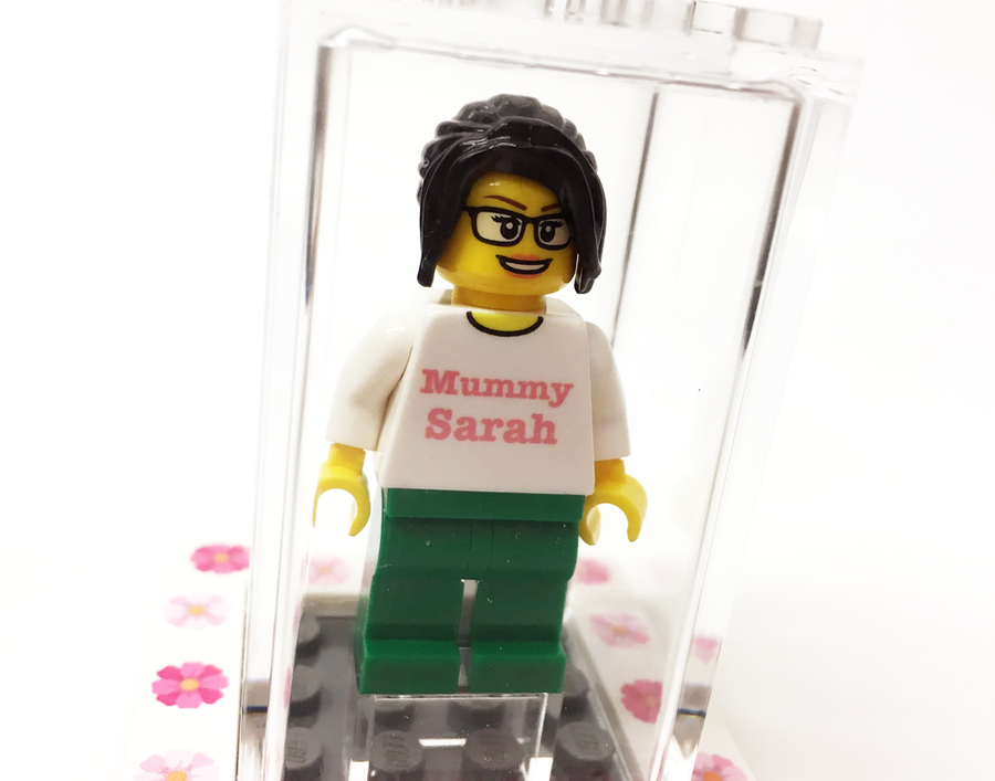Small Personalised Happy Mother's Day Display Box with Mini-Figure. Includes FREE Keyring!
