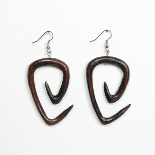 Spiral Triangle Earring