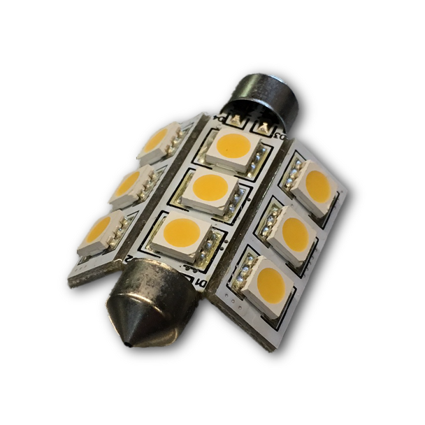 Festoon LED Bulb - Fits 41mm, 42mm, 43mm with cone ends