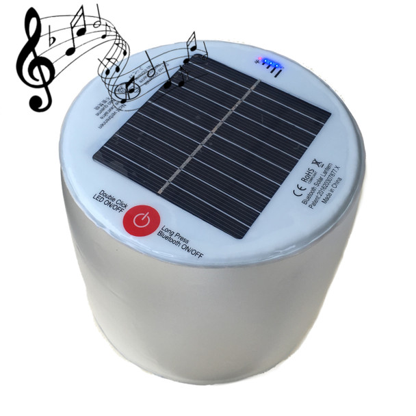 Bluetooth Inflatable Solar LED Lantern and Speaker - Waterproof!
