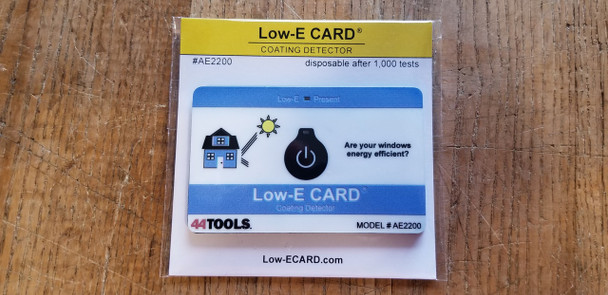 Low-E Detector Card - Disposable