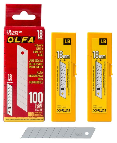OLFA 18MM LB HD Blades-100PK