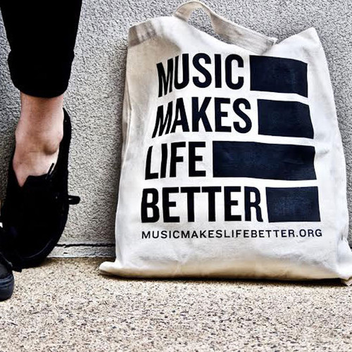 Music Makes Life Better Tote Bag