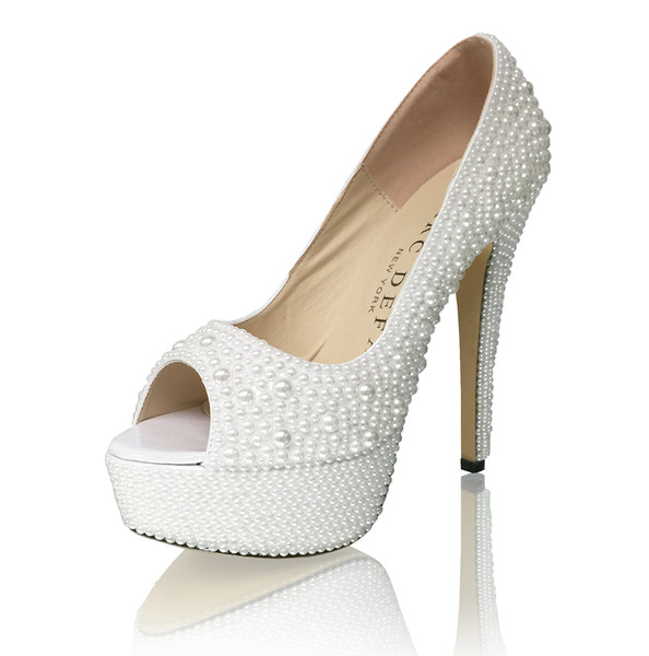 Mixed Size Pearl High Heel Pumps
