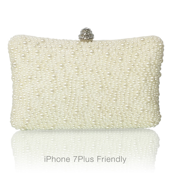 Pearl Large Evening Clutch (iPhone Plus Friendly)